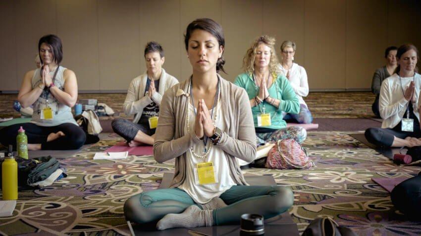 yoga practise breathing
