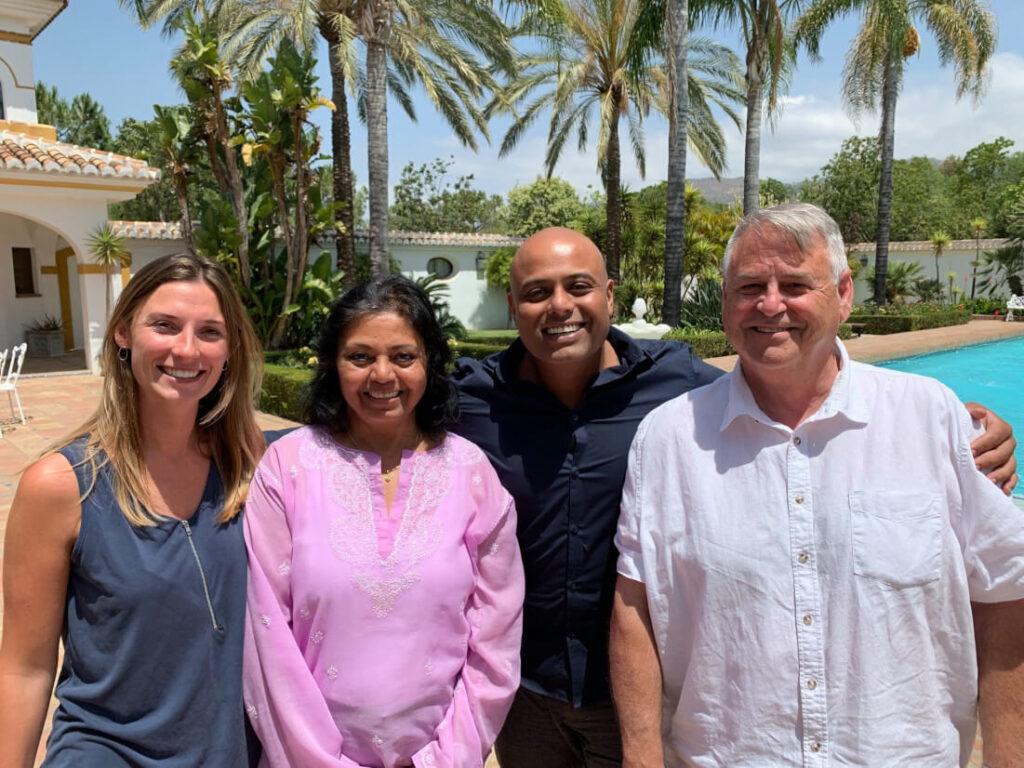 The Camino Team - Loren, Meena, Ameet and Don